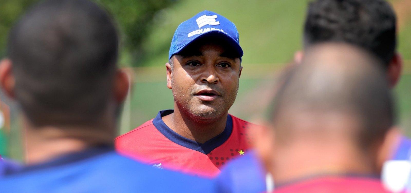 Roger Machado inicia trabalhos após assumir comando do Bahia
