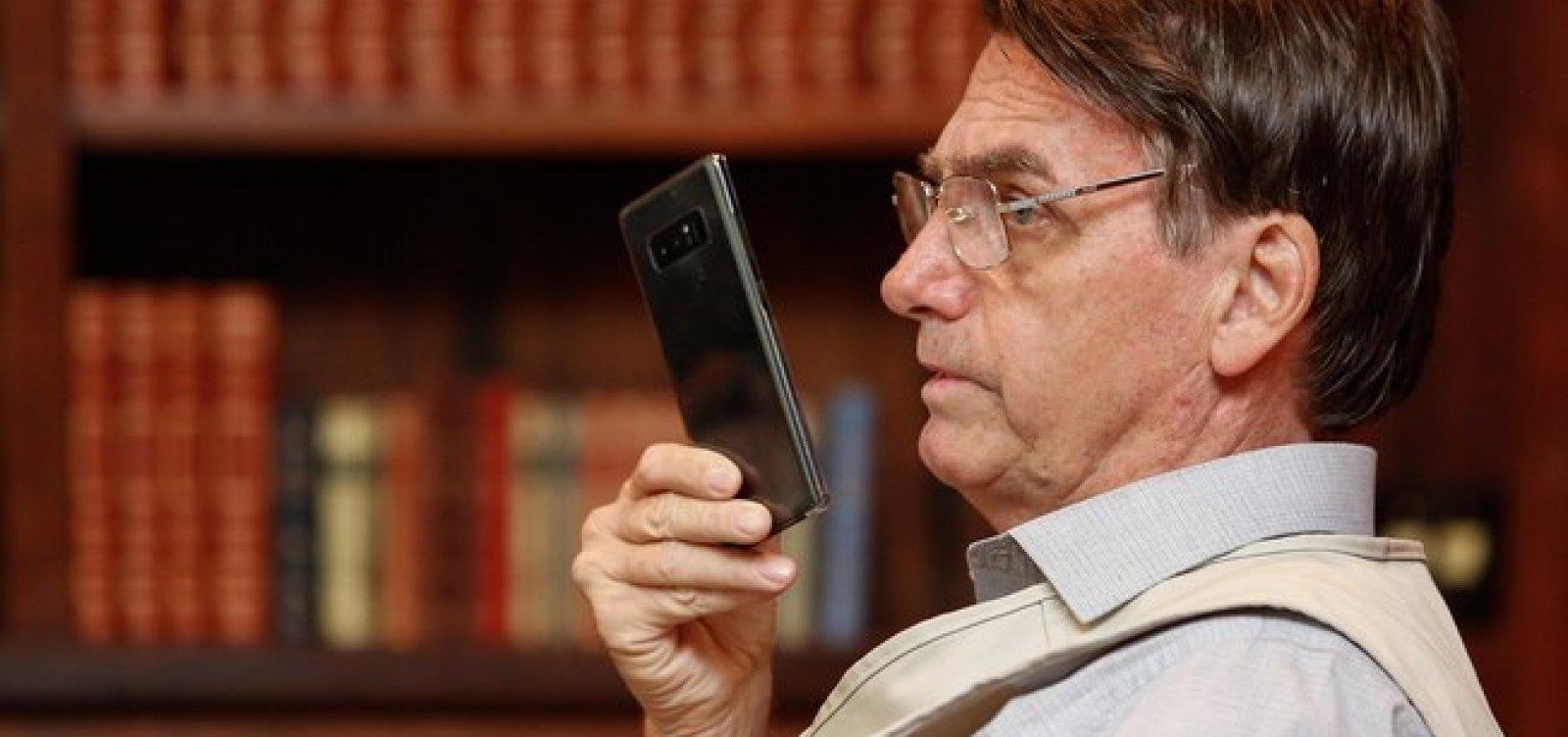 Aprovação a Bolsonaro chega a 62% entre seguidores de rede social