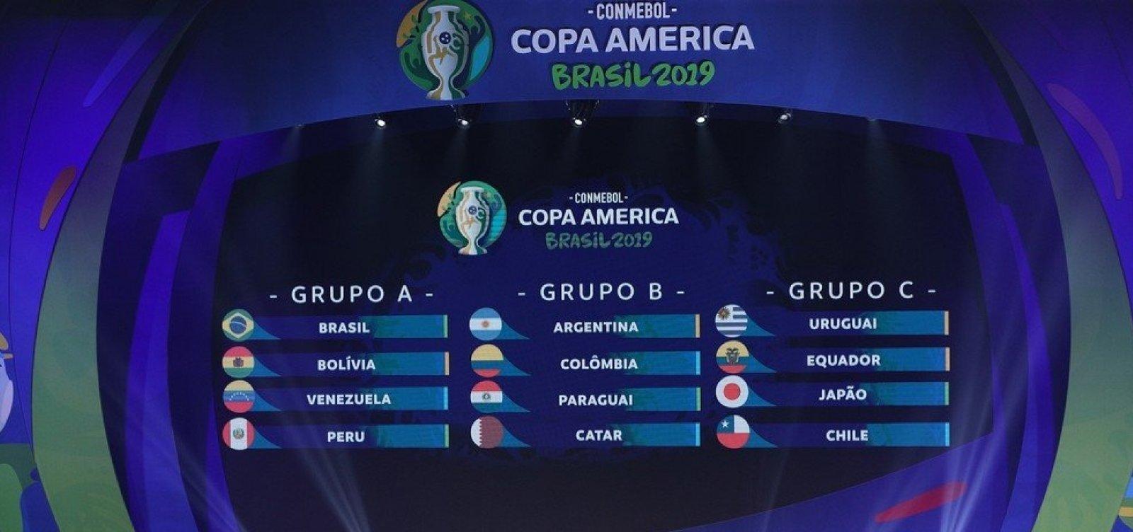 Argentina e Colômbia serão as sedes da Copa América 2020