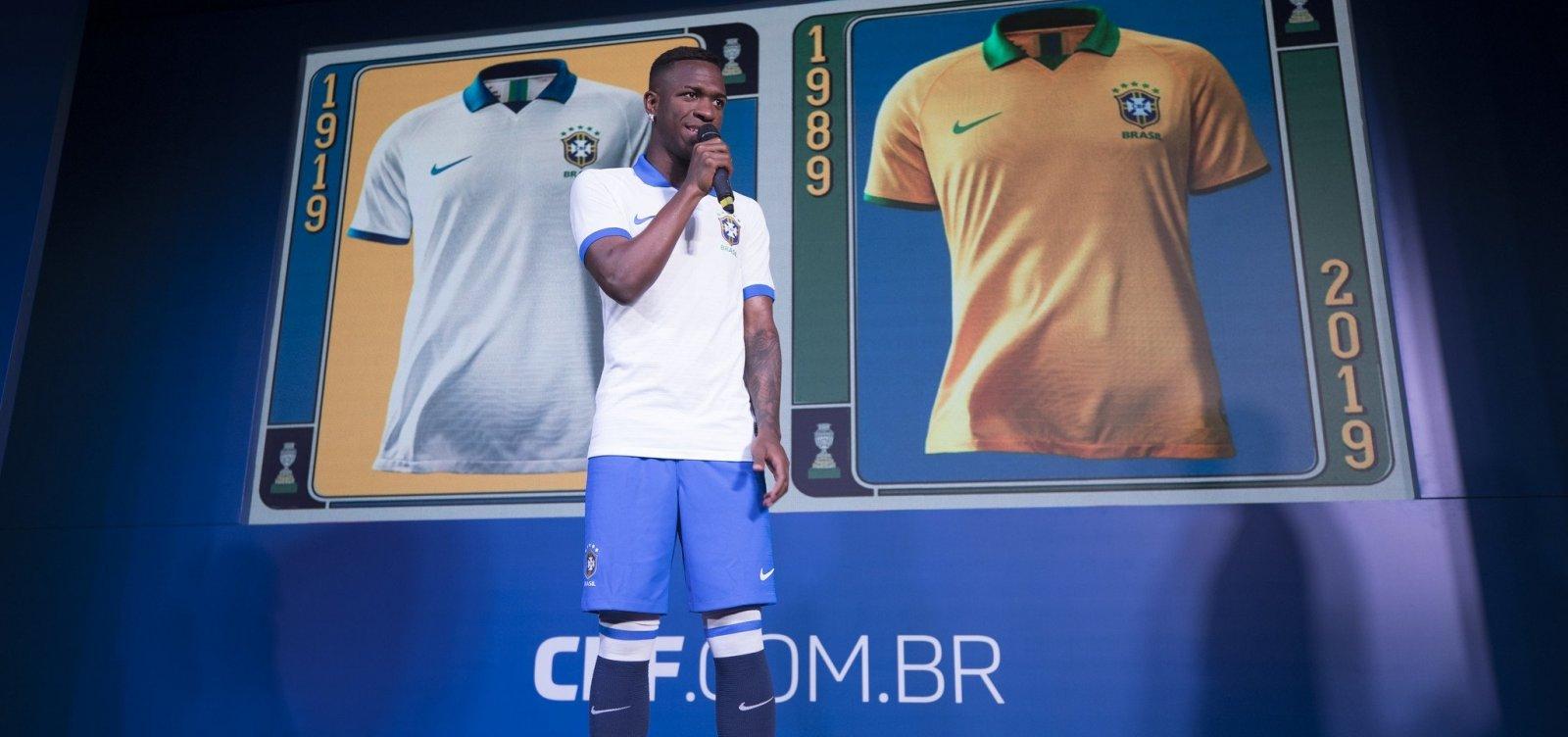 Seleção brasileira usará camisa branca no primeiro jogo da Copa América