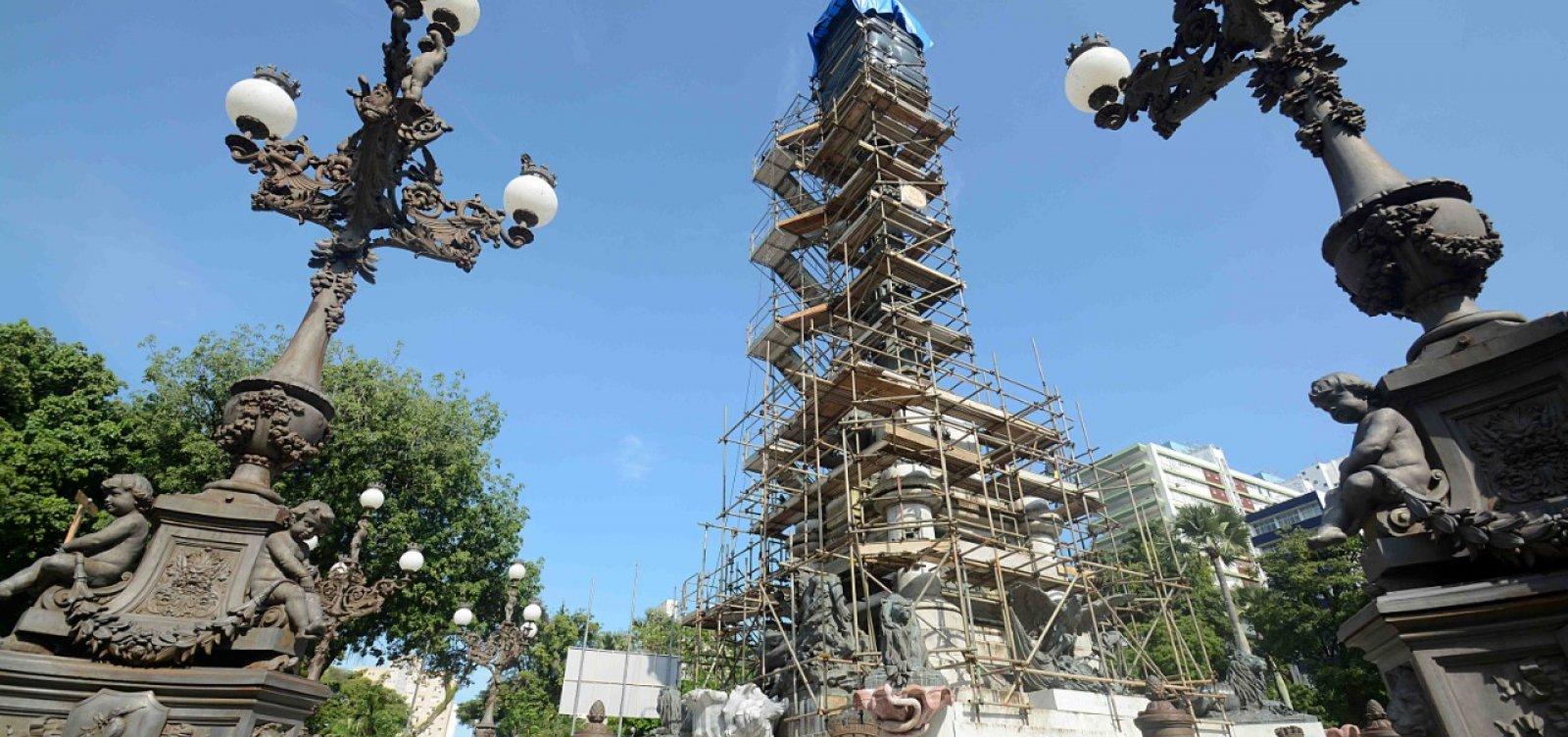 Monumento ao Dois de Julho passa por restauração após 16 anos