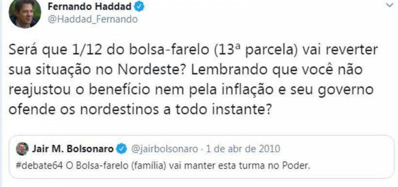 Carlos Bolsonaro e Haddad se alfinetam no Twitter