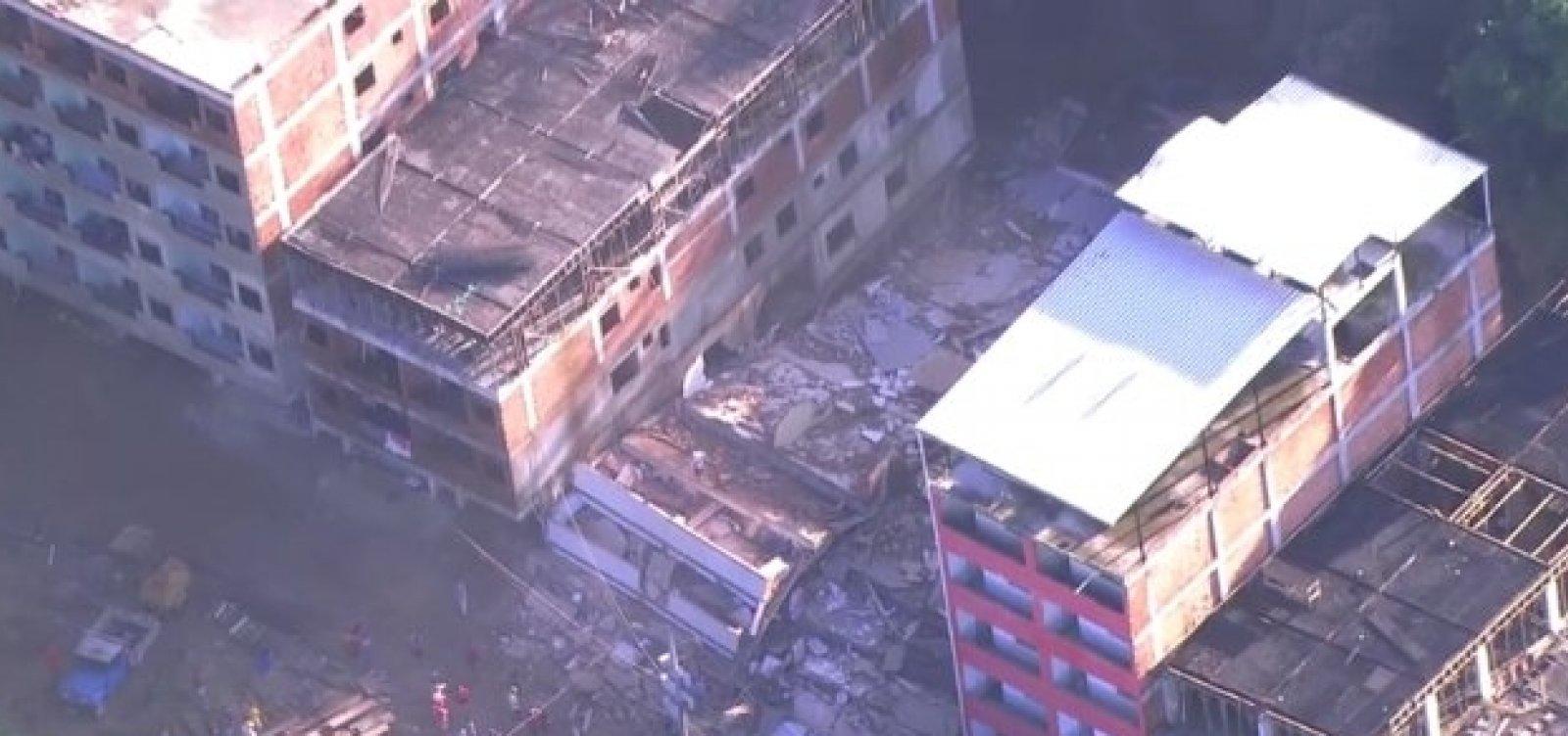 Duas pessoas morrem em desabamento no Rio de Janeiro