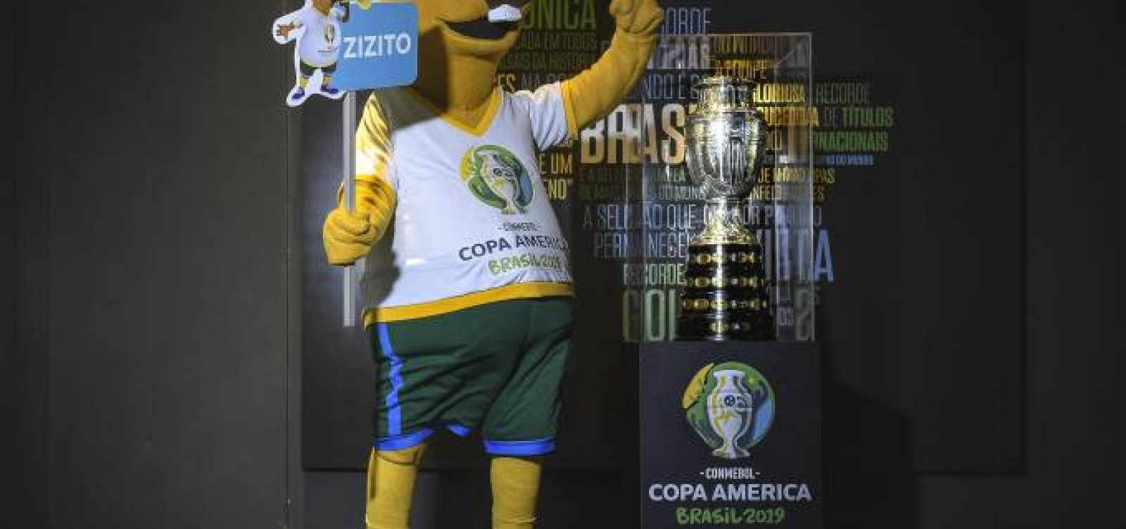 Copa América: Público escolhe 'Zizito' para nome de mascote