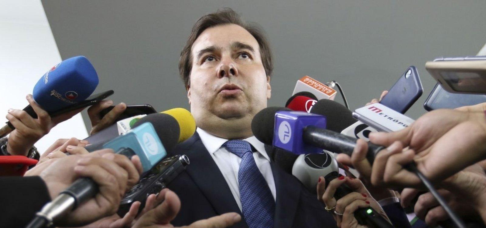 Maia articula pauta mínima de apoio à Previdência entre governadores do Nordeste