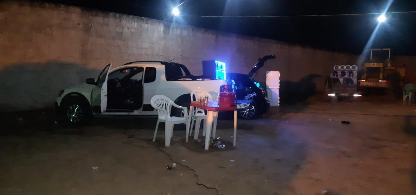 Festa 'paredão' termina com prisão e apreensões em Simões Filho