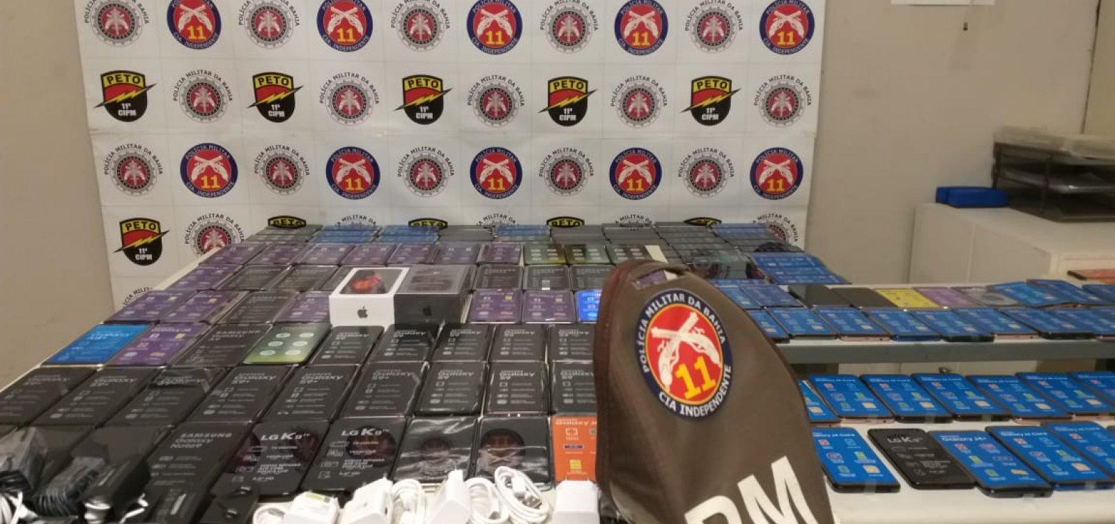 Polícia Militar apreende 257 celulares furtados na Barra