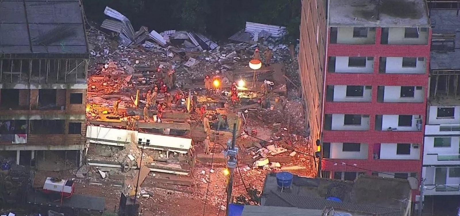 Sobe para 10 o número de vítimas de desabamento no RJ