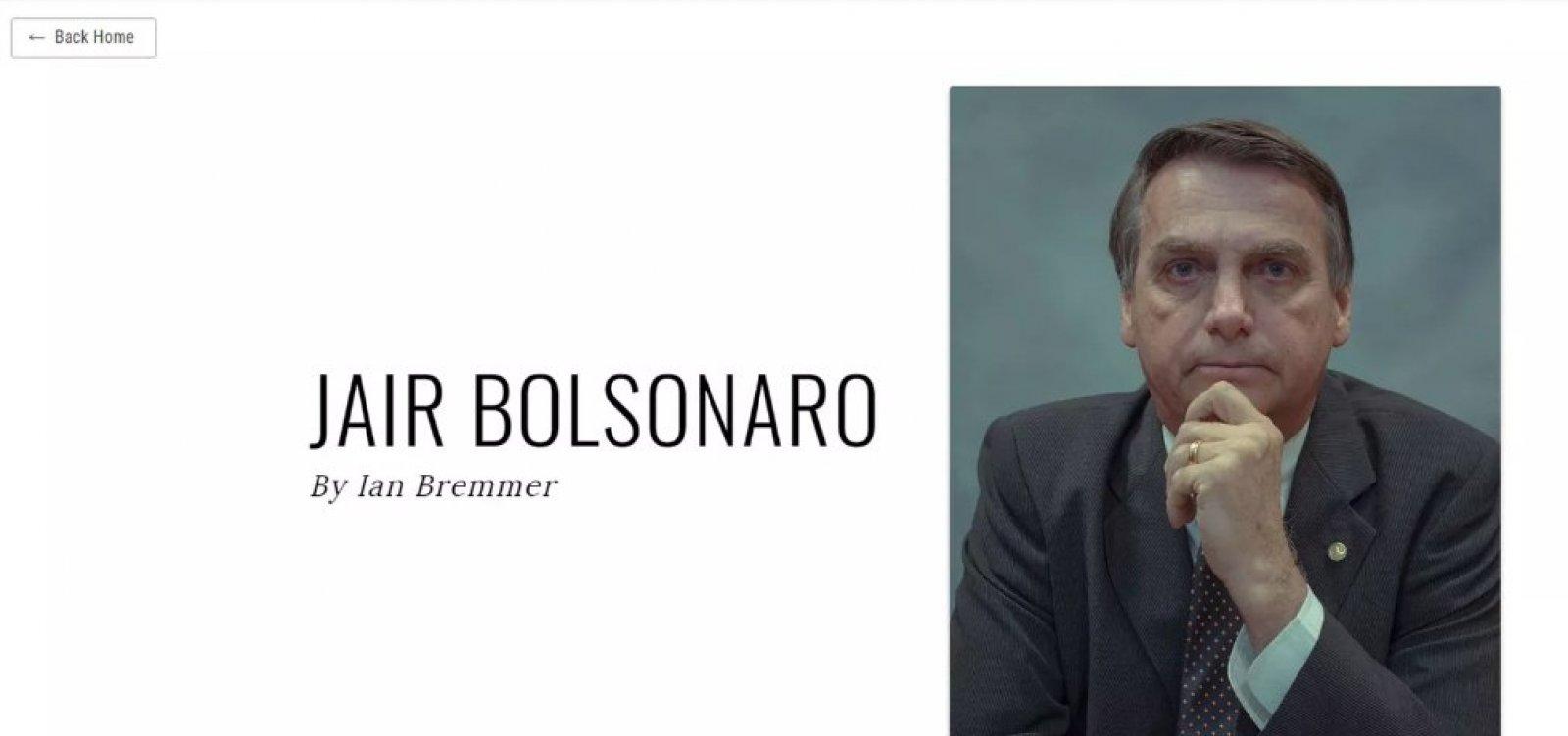 Bolsonaro aparece na lista dos '100 mais influentes' da revista Time