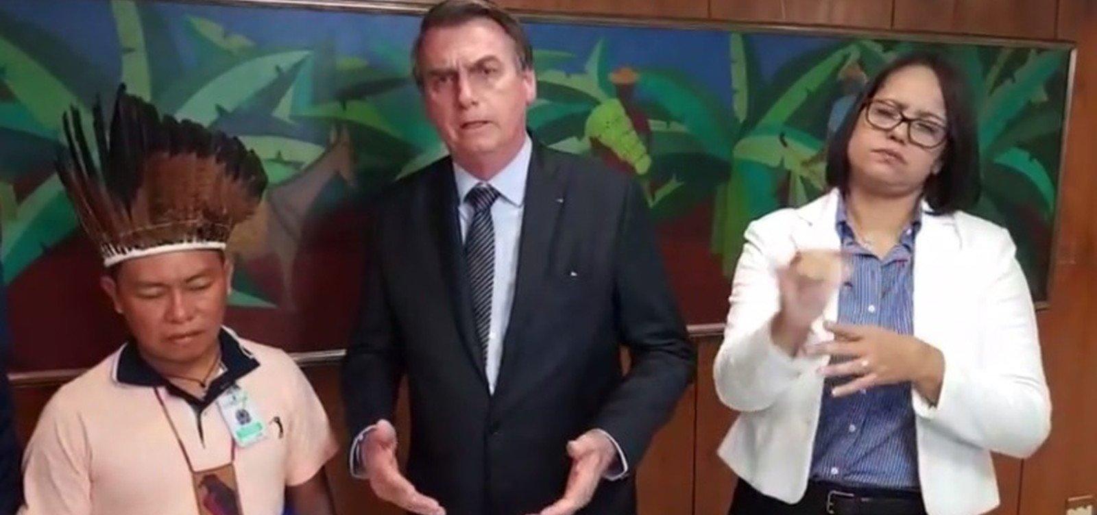 Bolsonaro promete cortar diretoria da Funai se órgão não acatar vontade do povo indígena