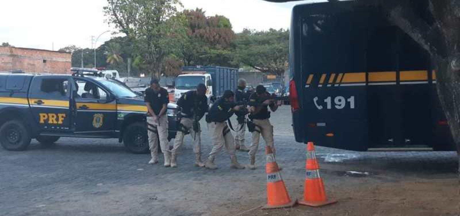PRF realiza operação para combater crime organizado nas rodovias baianas