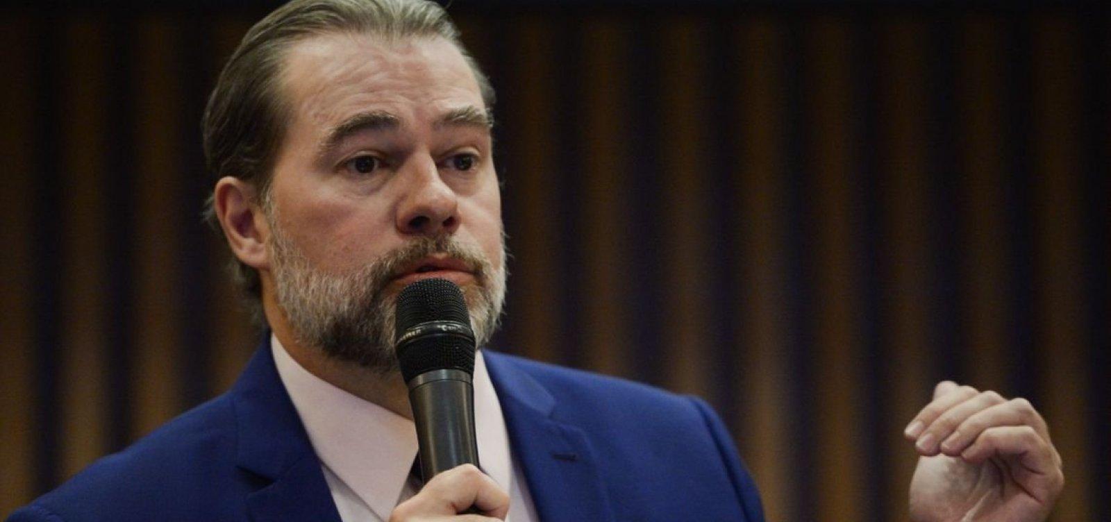 'Não houve mordaça nem censura', diz Dias Toffoli