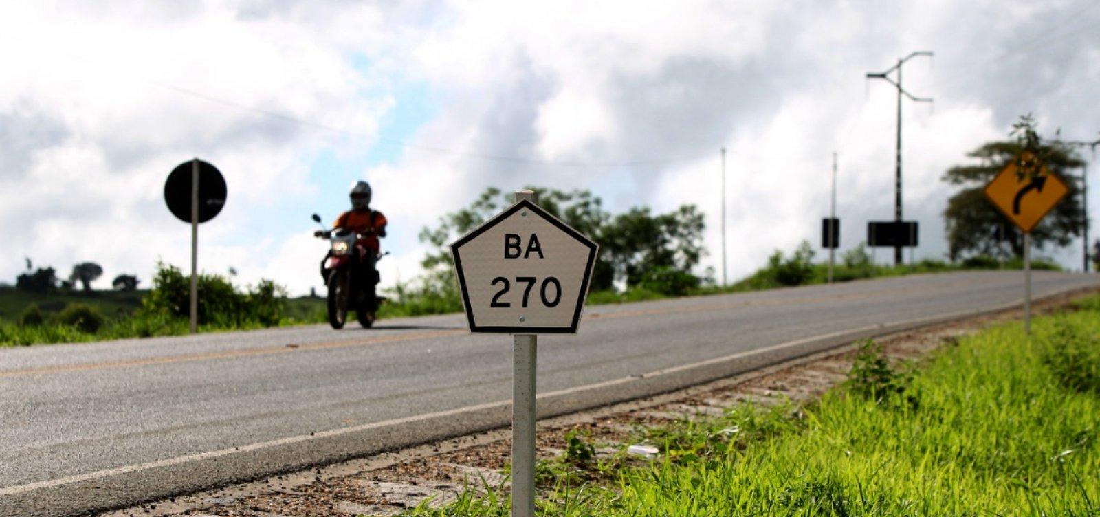 Rui entrega obra de recuperação da BA-270, entre Maiquinique e Itarantim