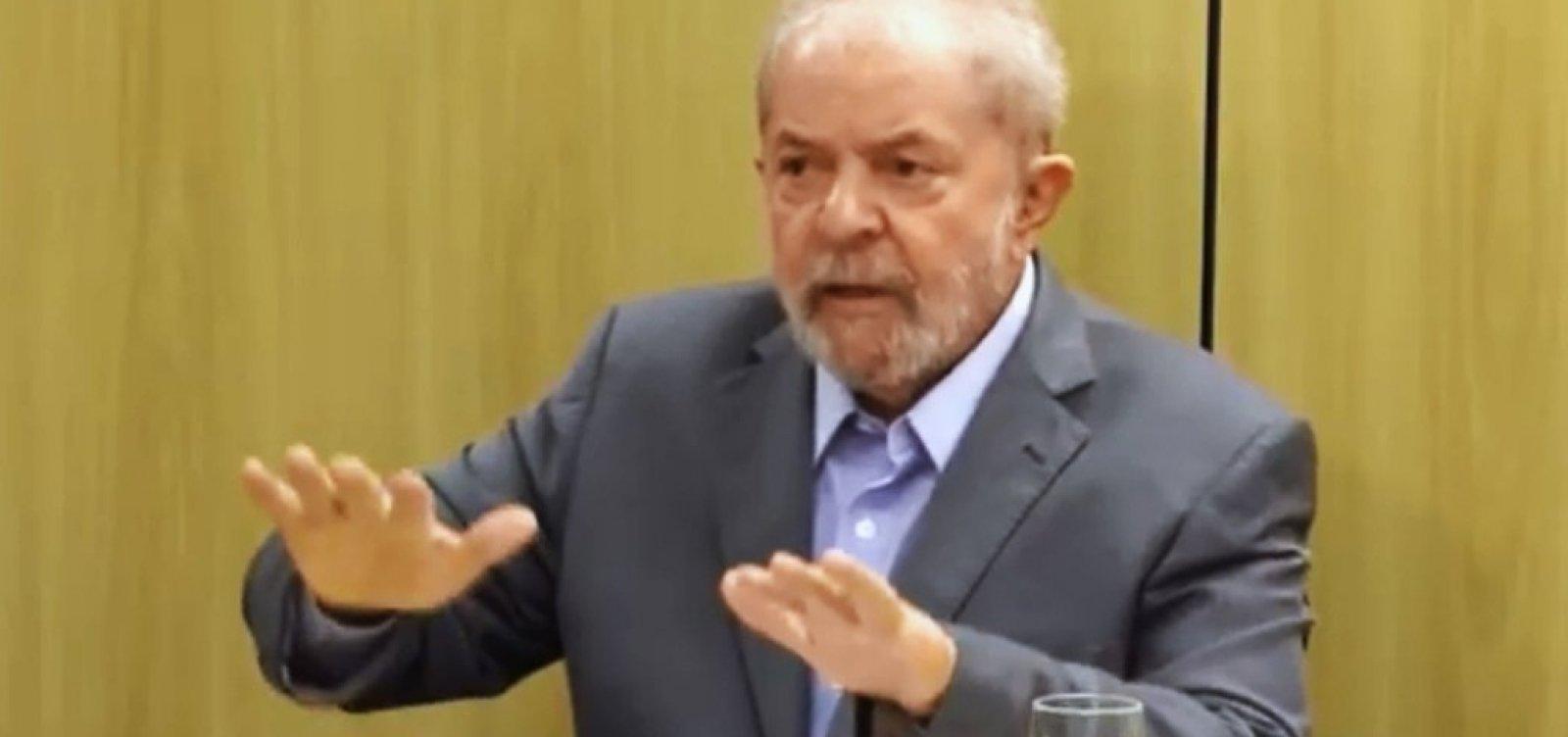 'Durmo com a consciência tranquila. Quem não dorme bem é o Moro', afirma Lula