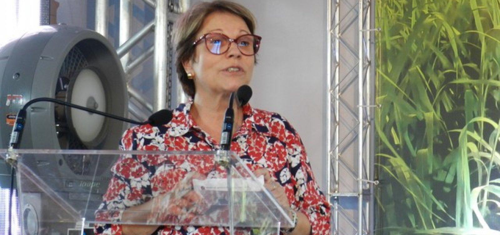 Ministra diz que fim de recursos para financiamentos é boa notícia e descarta corte no plano Safra
