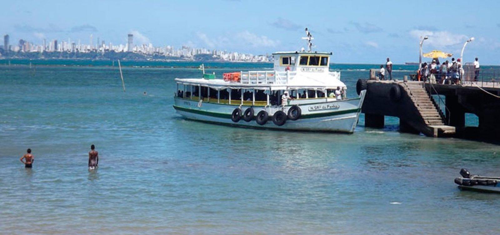 Travessia de Salvador para Mar Grande será encerrada mais cedo nesta quarta em função da maré baixa