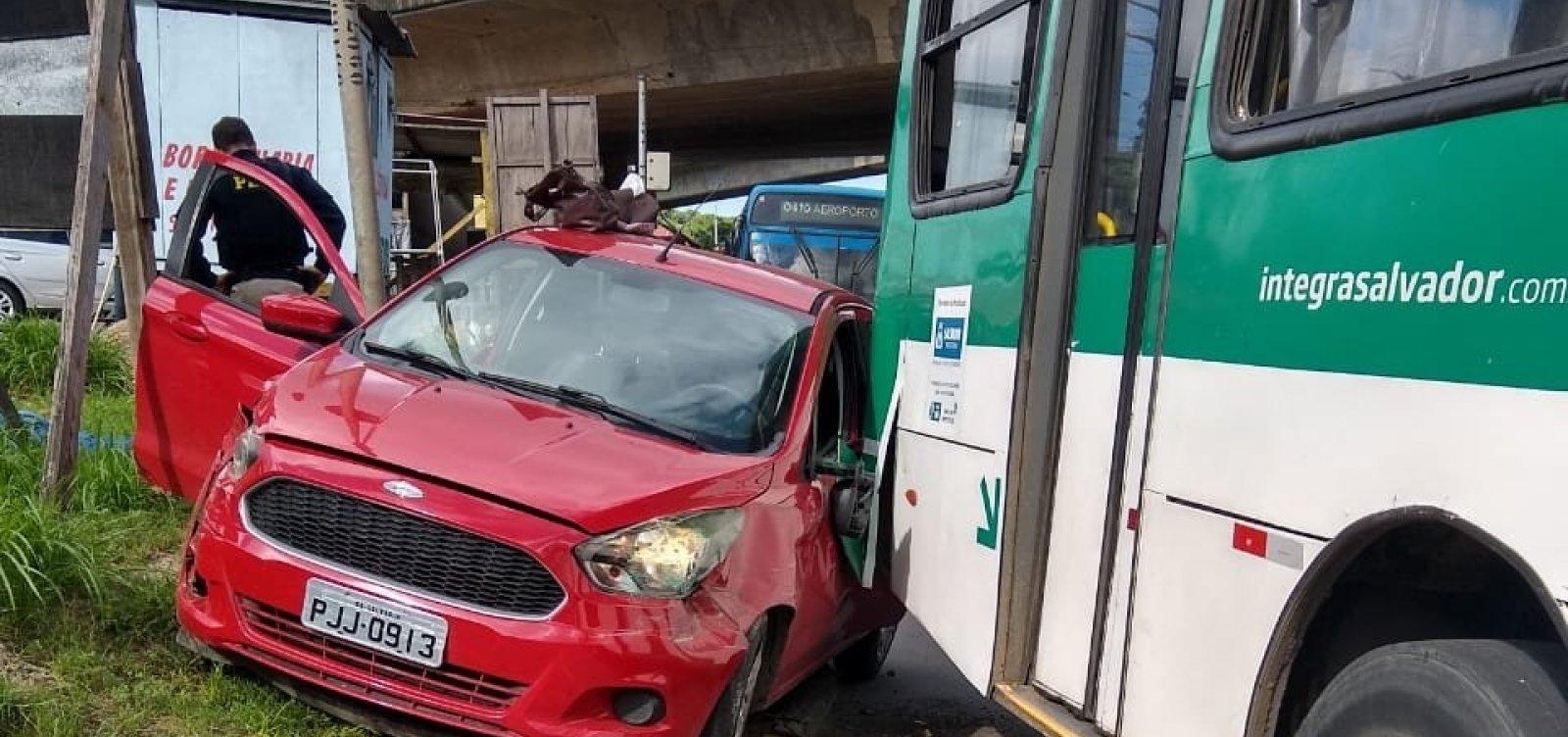 Polícia intercepta carro roubado e prende suspeito em Salvador