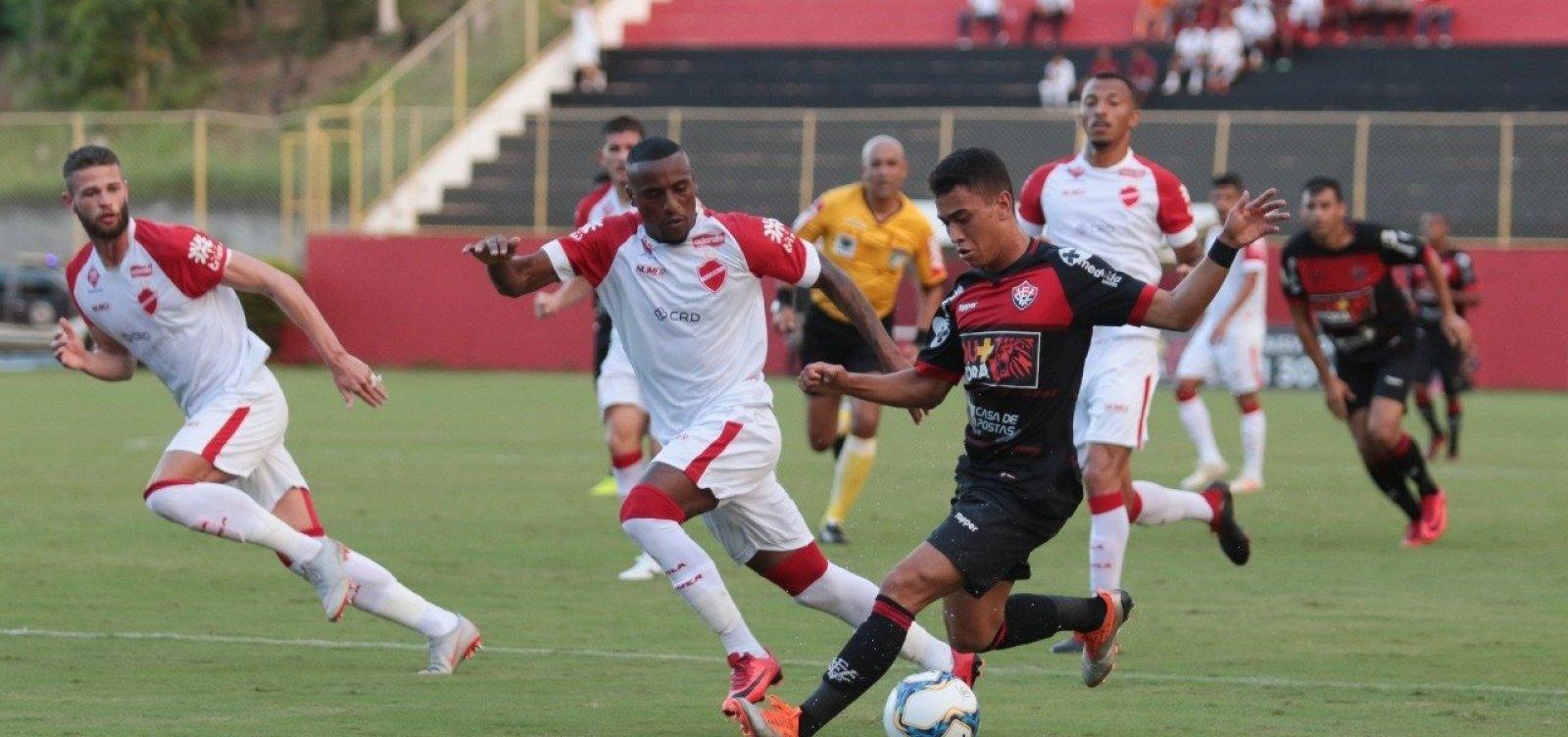 Vitória quebra tabu de 13 jogos e vence o Vila Nova por 2 a 1 no Barradão