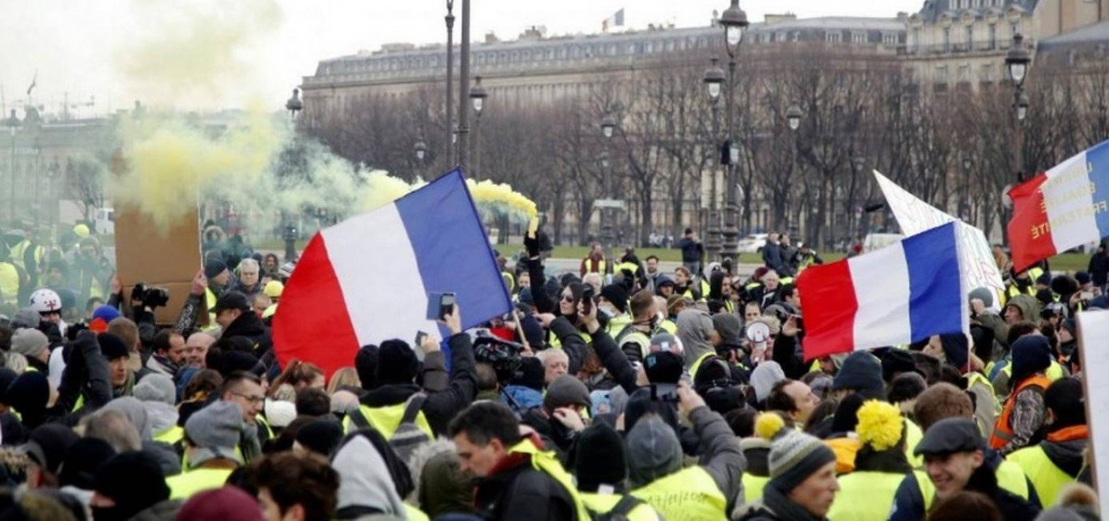 Protestos dos 'coletes amarelos' registram menor número desde o início do movimento