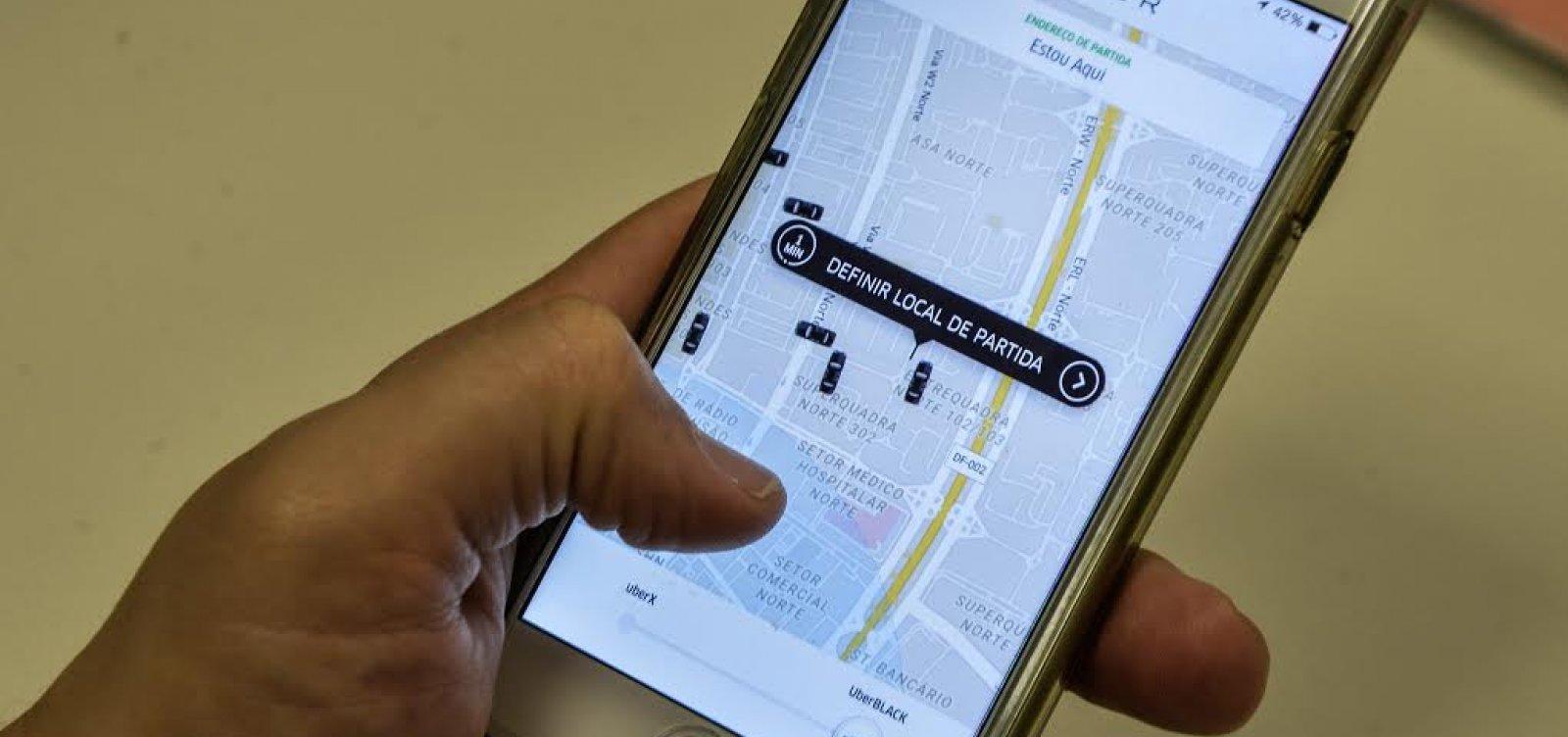 Em dia de paralisação, motoristas de Uber saem em carreata até a Av. Tancredo Neves