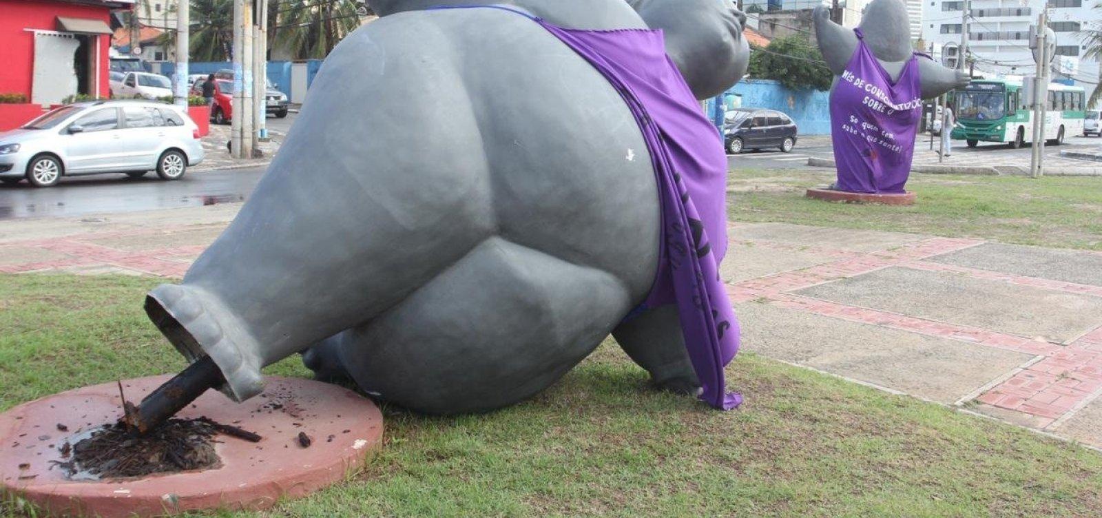 Após obra da prefeitura, 'gorda' de Eliana Kertész tomba
