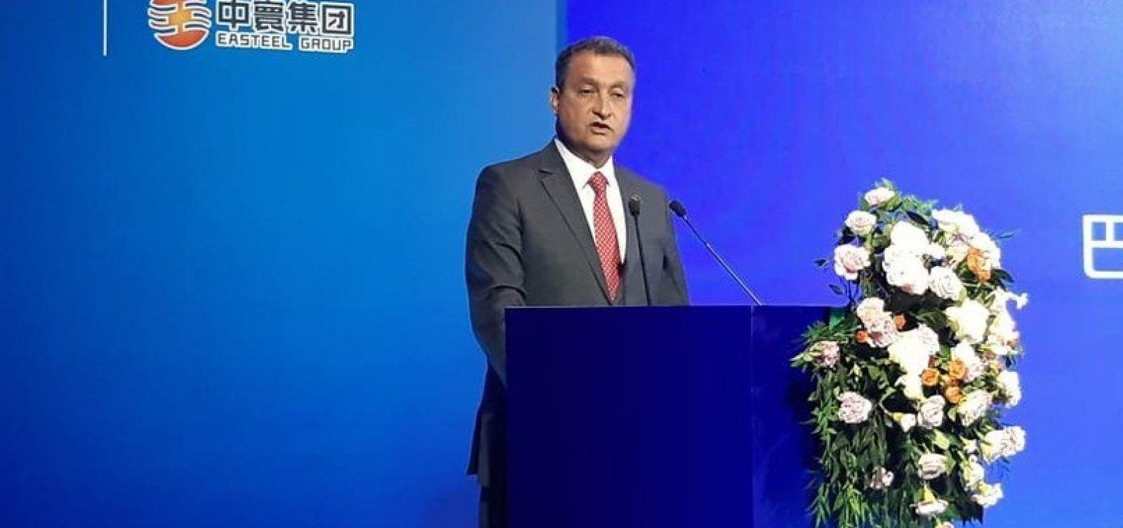 Acordo entre Bahia e China deve criar 30 mil empregos, diz governador
