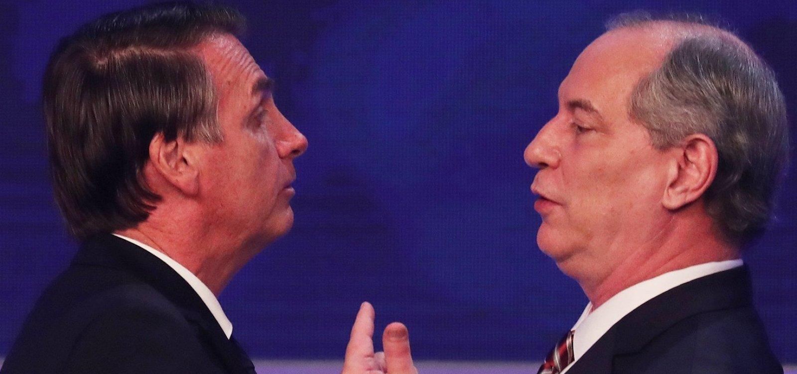 Após ser processado por Bolsonaro, Ciro Gomes debocha: 'Justiça será feita'