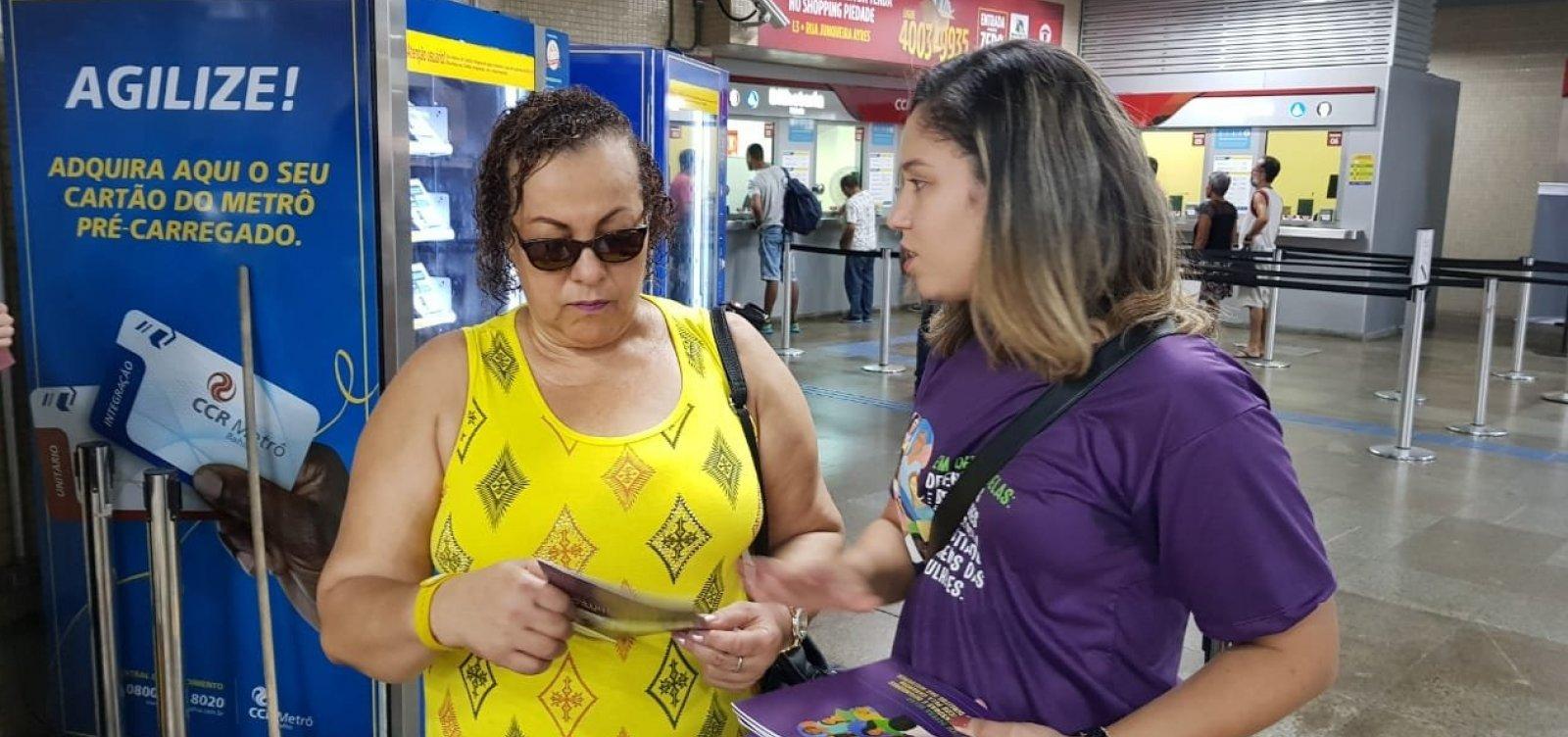 Campanha sobre direitos das mulheres é lançada em Salvador