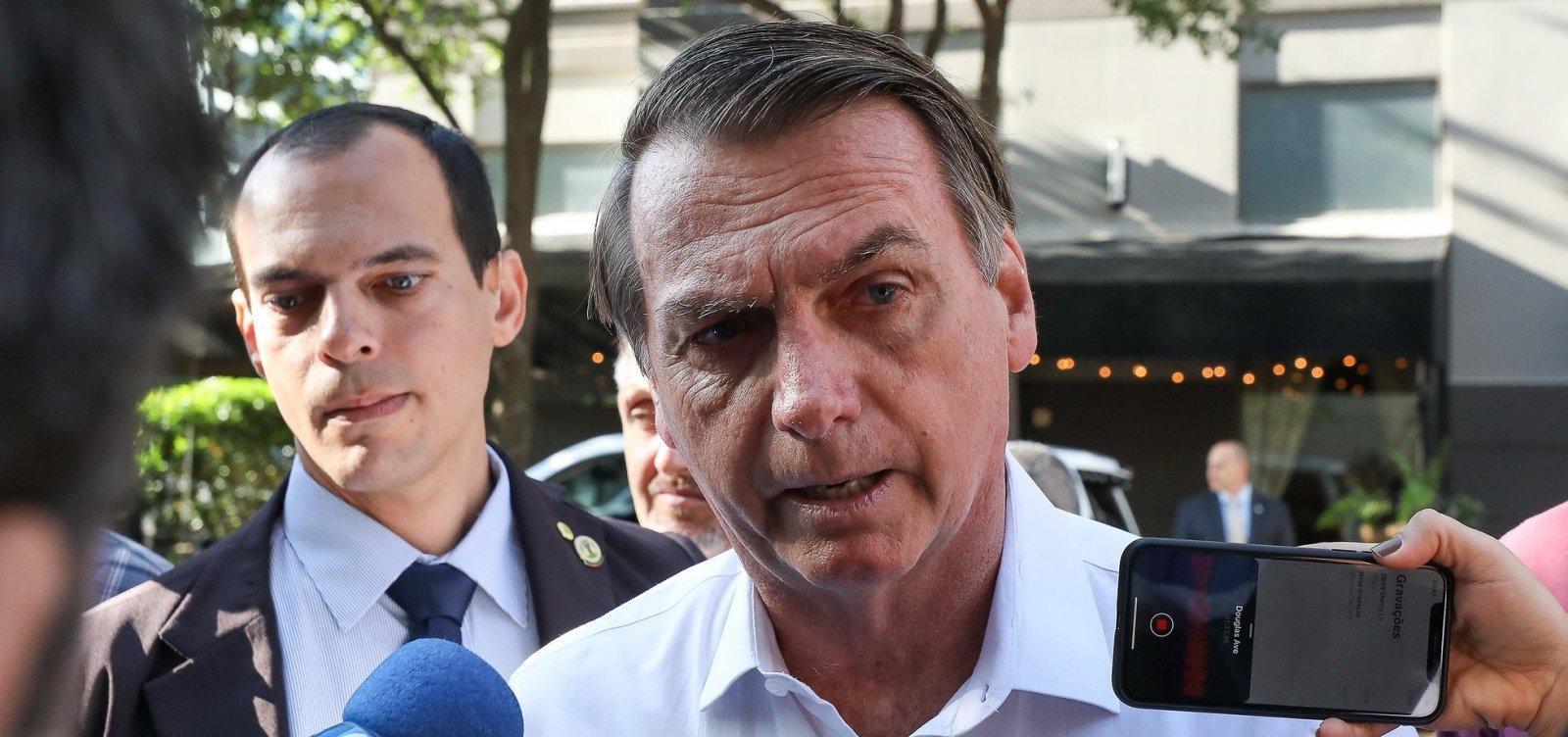 Bolsonaro critica investigação sobre filho: 'Venham pra cima, não vão me pegar'