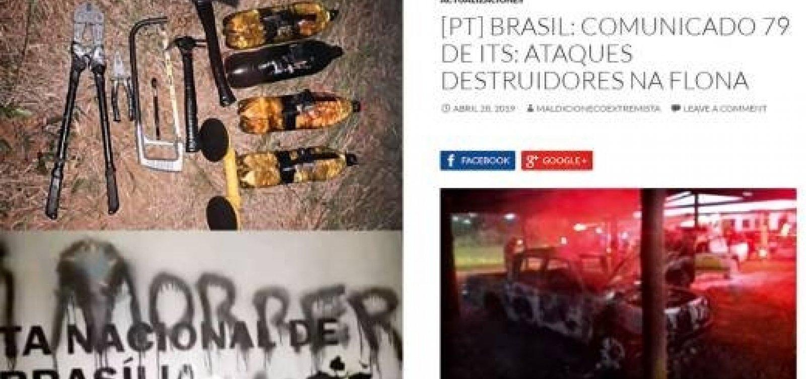 PF busca grupo que ameaça Bolsonaro e ministro do Meio Ambiente