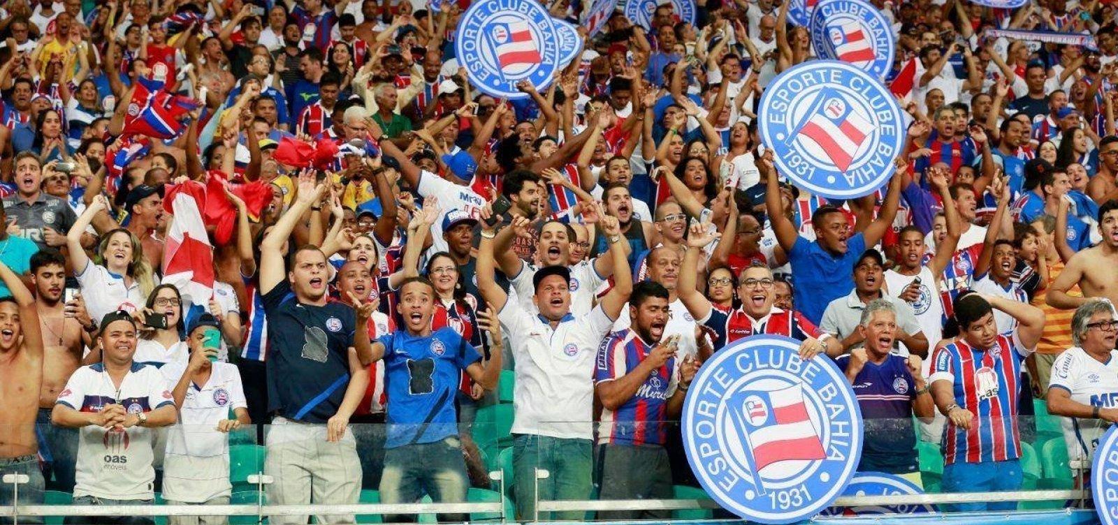 Bahia está entre os 10 clubes que mais arrecadam com bilheteria no país