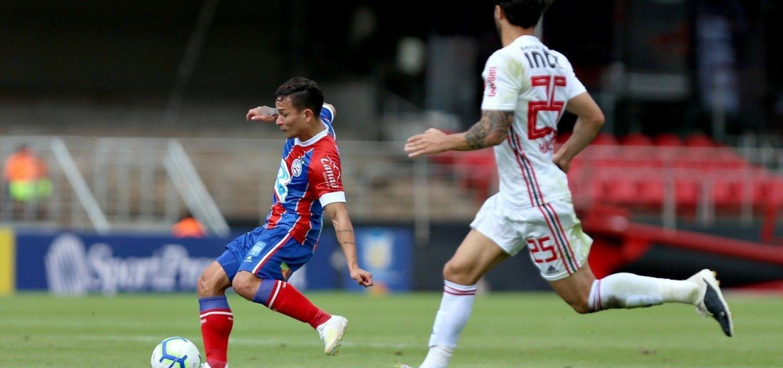 Bahia e São Paulo empatam sem gols pela Série A