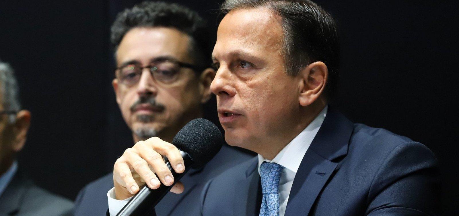 Doria diz que 'não vê necessidade' de atos pró-Bolsonaro