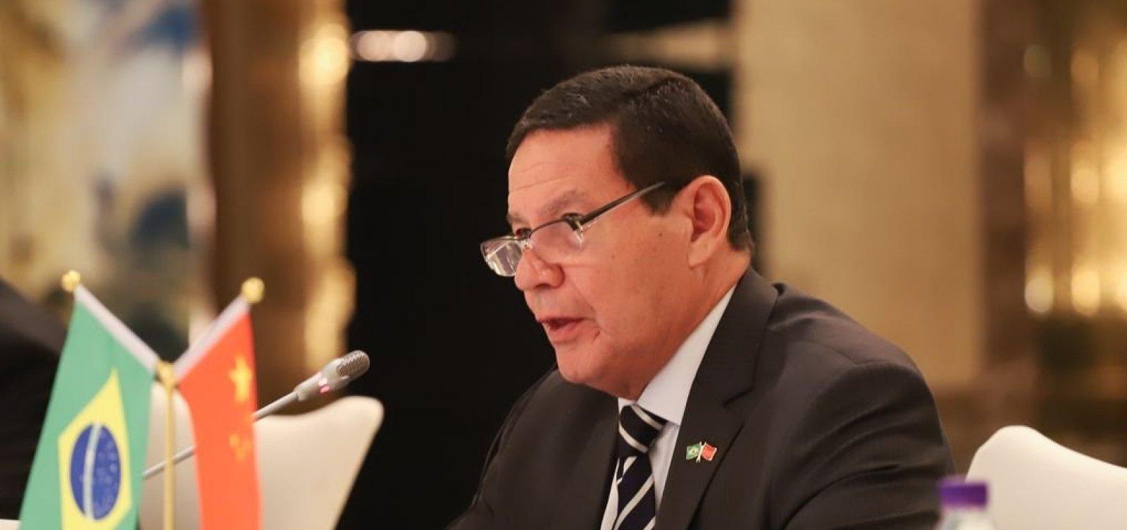 Mourão defende diversificação de exportações para China