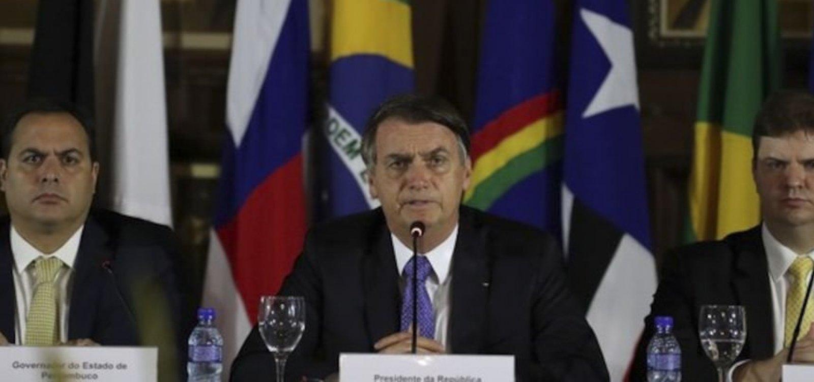 Bolsonaro é alvo de críticas de governadores nordestinos