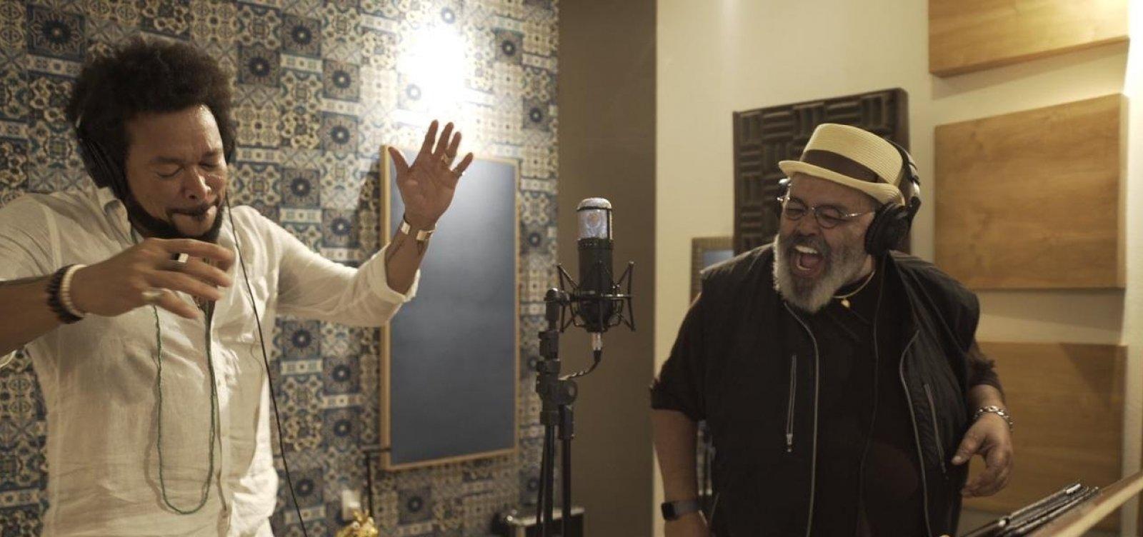 Em Salvador, Jorge Aragão grava música com Jau em homenagem ao artista baiano
