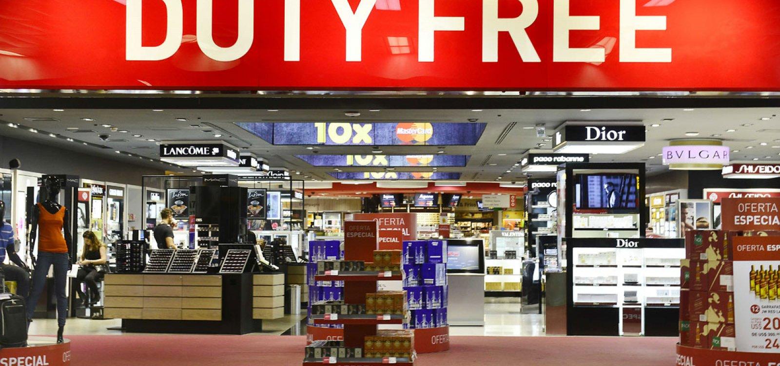 Limite para compras em free shops de aeroportos passa a valer em 2020