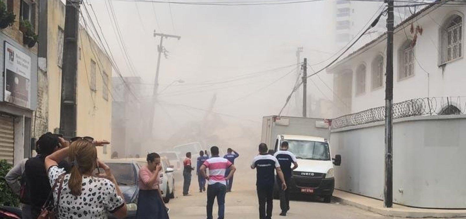 Desabamento de prédio deixa ao menos um morto e três feridos em Fortaleza