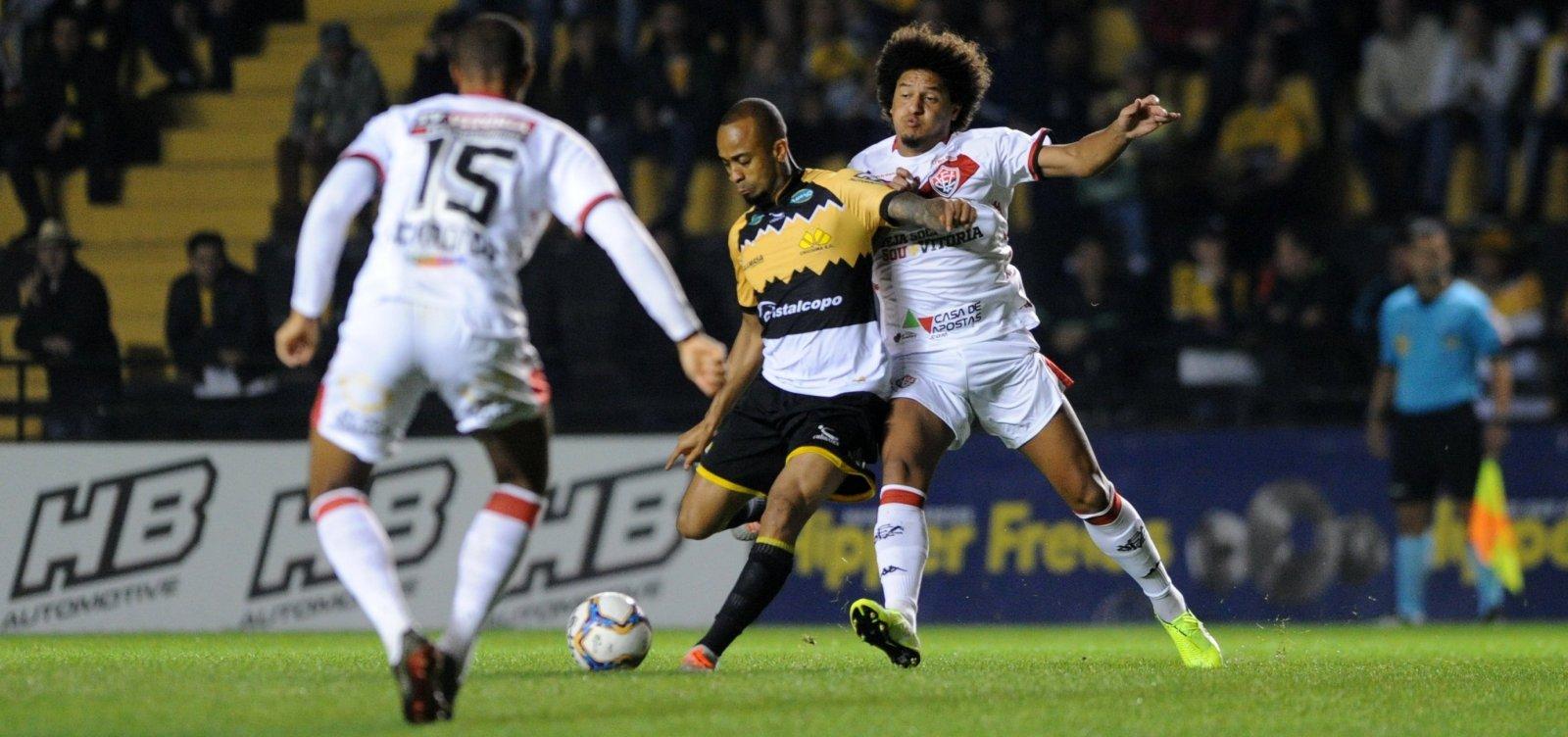 Vitória arranca empate em 1 a 1 com Criciúma fora de casa na Série B