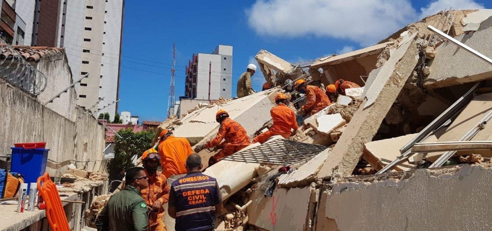 Aumenta para 2 nº de mortos em desabamento de edifício em Fortaleza