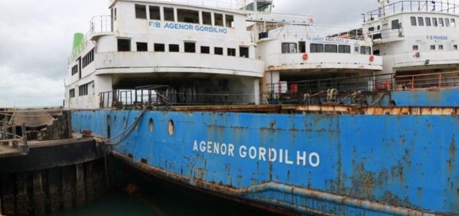 Afundamento do ferry boat Agenor Gordilho é suspenso