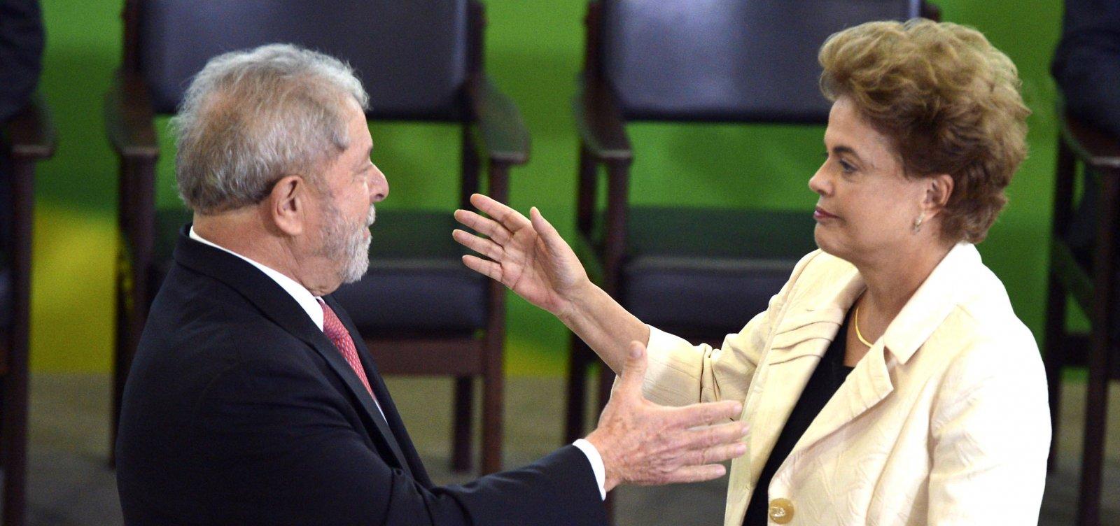 MPF pede a absolvição de Lula e Dilma no caso do 'quadrilhão do PT'