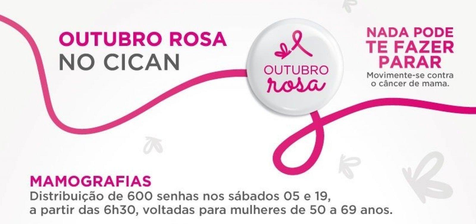 RBD oferece 600 senhas para exames gratuitos de mamografia neste sábado