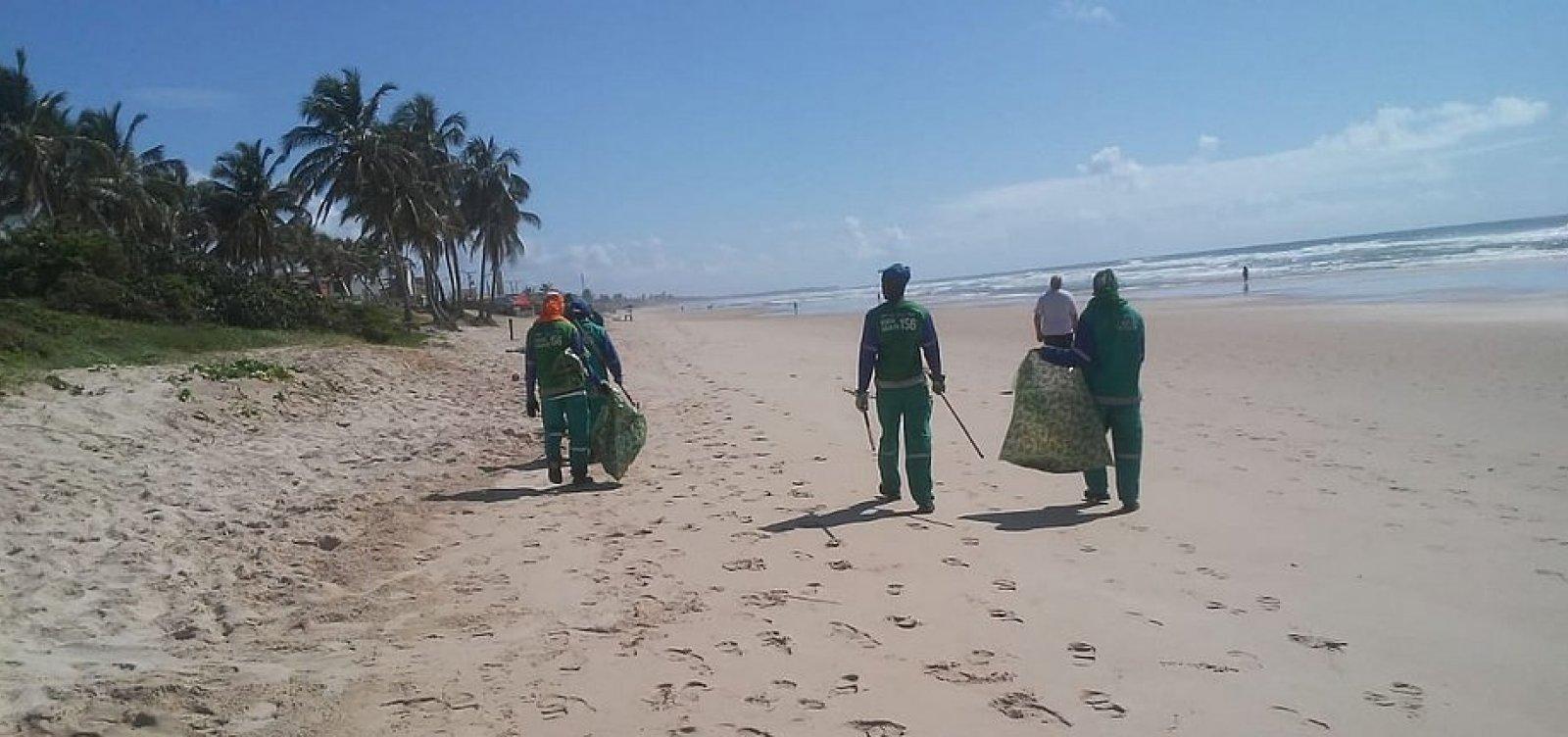 Mais de 90 toneladas de óleo foram retiradas das praias de Salvador