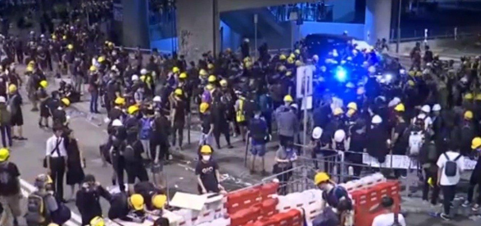 Manifestantes voltam às ruas de Hong Kong nesse domingo