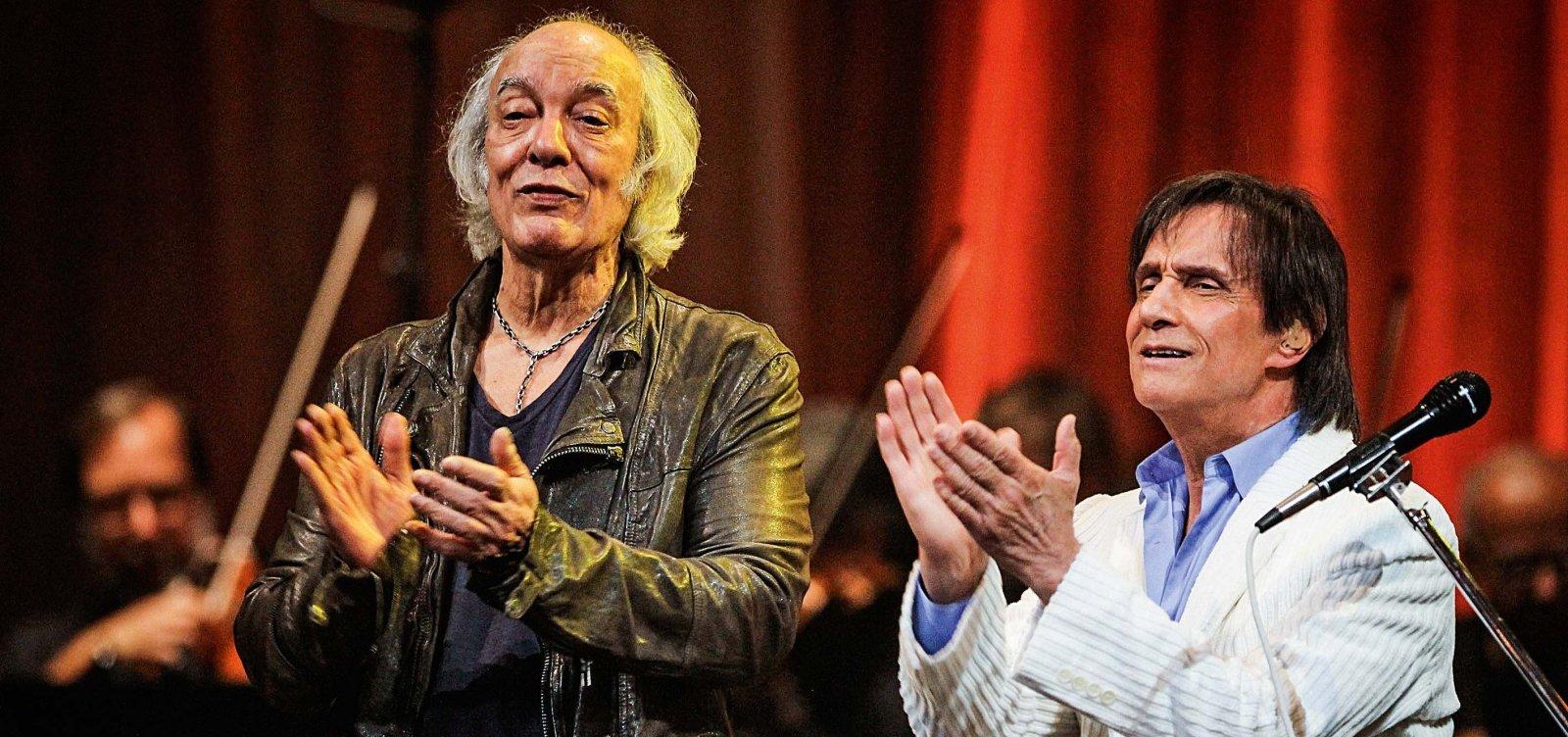Roberto e Erasmo Carlos entram na Justiça para recuperar direitos sobre 73 composições