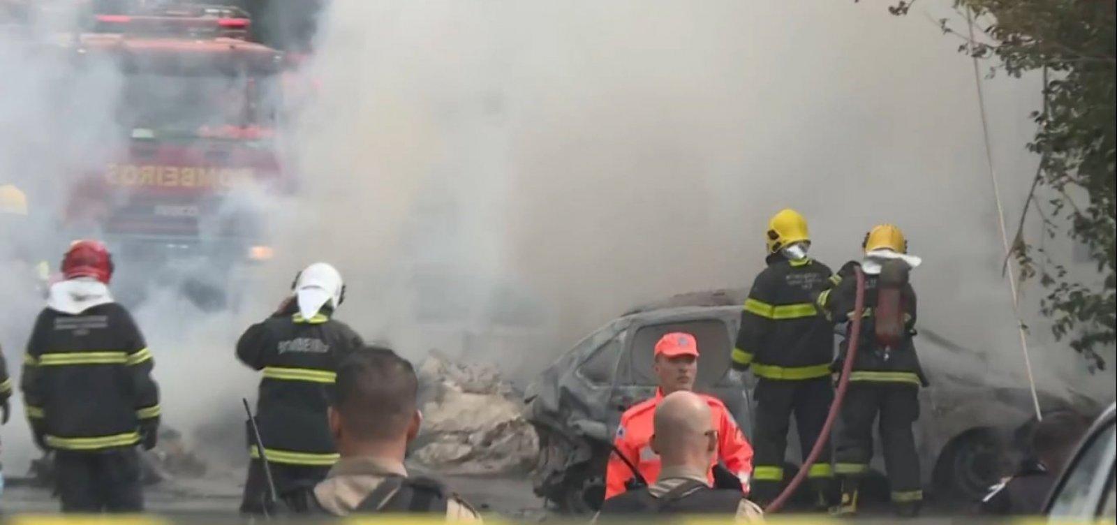 Avião que caiu em BH decolou com destino a Ilhéus; três morreram