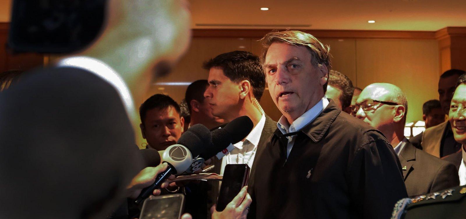 Bolsonaro compara crise no PSL a ferida que 'cicatriza naturalmente'