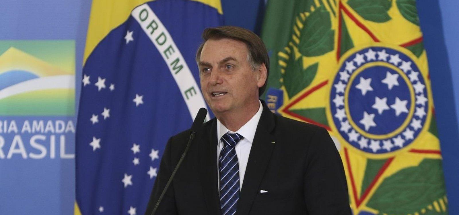 'O bem vencerá o mal', diz Bolsonaro sobre crise no PSL
