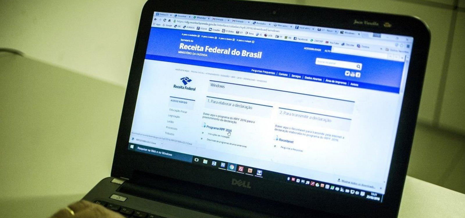 Mais de 14 mil baianos são notificados pela Receita Federal por pendência no IR